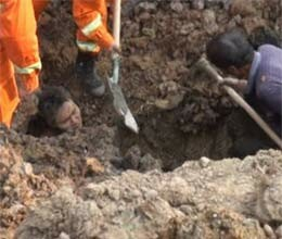man buried in mudslide in china but survives