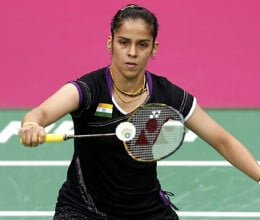 Saina in quarterfinals Saurabh losers