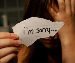 dont say sorry repeatedely to become successful