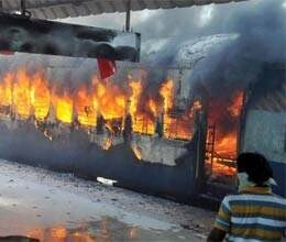 immolation by couple led to fire in train