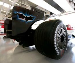 formula one car tires are bar coded