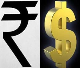 Rupee at two month lows plunges 46 p