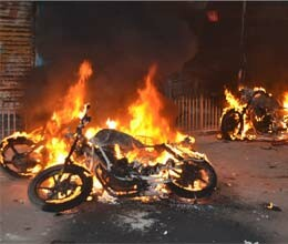 curfew after arson in faizabad during immersion