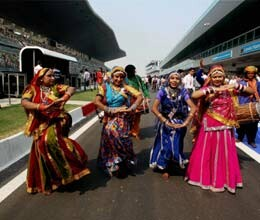 formula one gets indian touch with dhol bhangra and mehndi