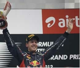 Vettel wins Indian GP again
