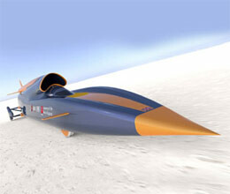 rocket car 42 feet lenth full speed supersonic car