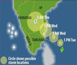 Heavy rains  in Tamil Nadu by Neelam, affect normal life