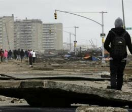 american core services restored after Sandy storm