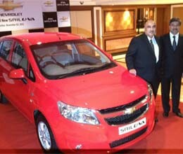 gm launches chevrolet sail u va hatchback