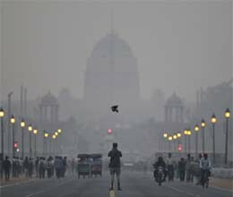 mist and pollution in delhi ncr