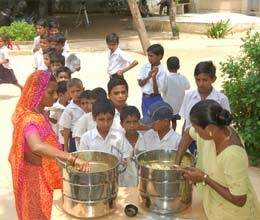 rajasthan remain backward in midday meal distribution