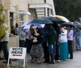 us election long lines but not noisy like india