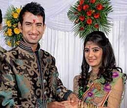 cheteshwar pujara gets engaged to rajkot based pooja pabari
