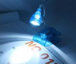 led clip on spot light you can read book in dark