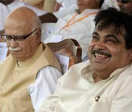 Gadkari meets Advani