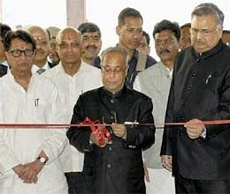 president inagurates new raipur airport terminal