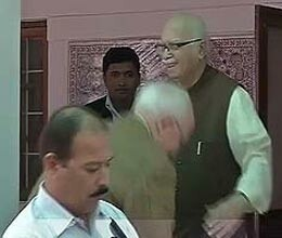 russian ambassador touches advani feet