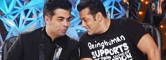 why karan go set of salman film