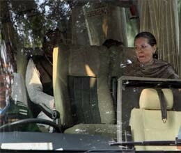 sonia rahul take bus ride to surajkund for party meet