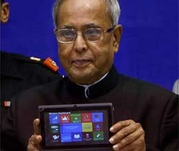president pranab mukherjee launches low cost Aakash 2 tablet