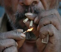 poor more prone to smoking in india