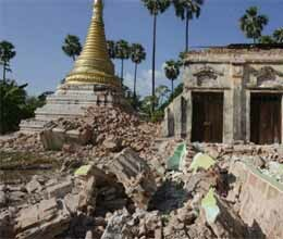 earthquake in burma kills 12