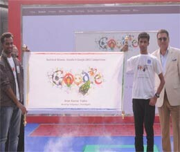 chandigarh student wins doodle 4 google competition