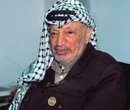 Arafat's body being pulled from the grave