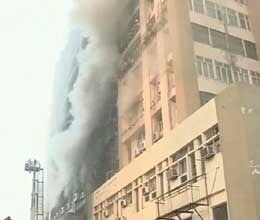 Fire in multi-storey building in Delhi, one dead