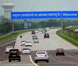 lcd will be seen on yamuna express way