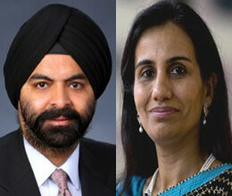 chanda kochhar and ajay banga in list of fortune