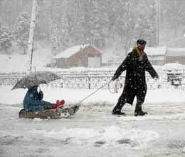 temperatures below zero first time in this season in srinagar