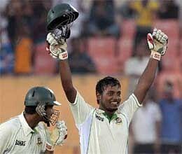 bangladesh number 10 abul hasan scored a unbeaten century