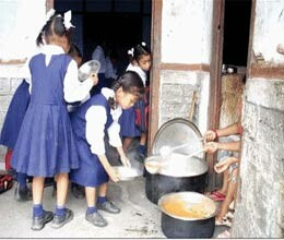 mid day meal kitchen have load with expensive cylinders