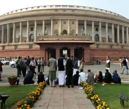parliament stop by affray over fdi and 2g