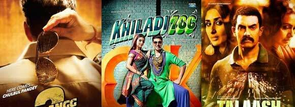 15 days for 'khiladi 786' and 'dabangg 2', 7 days for 'talash'