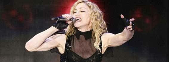 singer madonna worried about shape of leg