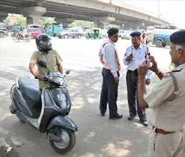 special campaign for vehicles speeding in gurgaon