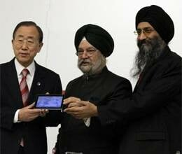 aakash tablet showcased in un