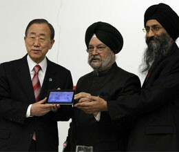 Akash tablet unveiled at United Nations