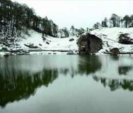 lakes covered with snow in himachal