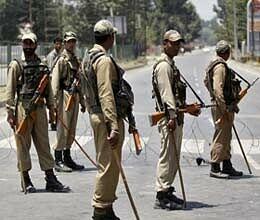 curfew in nine police station areas of srinagar