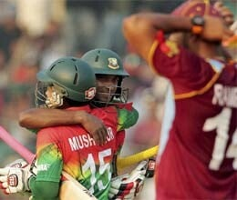 bangladesh defeat west Indies by 7 wkts