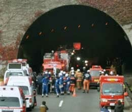 tunnel collapsed in Japan