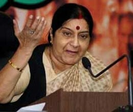 economic slowdown Sushma blames it on govt