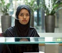 muslim woman as a receptionist is wrong