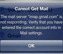 due to technical reason problem in gmail service