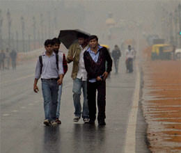 light rains breeze bring back winter chill in capital