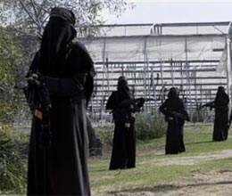pak terrorist gives training to women in pok