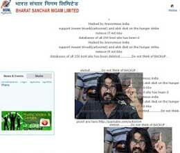 bsnl's website hacked in support of aseem trivedi